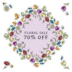 Floral banner for your design