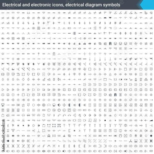 Remarkable Electrical And Electronic Icons Electrical Diagram Symbols Circuit Wiring Cloud Inamadienstapotheekhoekschewaardnl