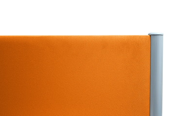 partition office orange color isolated on white background