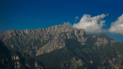 Monte Grigna above the city of Lecco in Italy