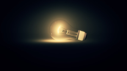 3d illustration of a lightbulb