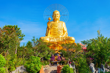 Golden Buddha statue in Dalat