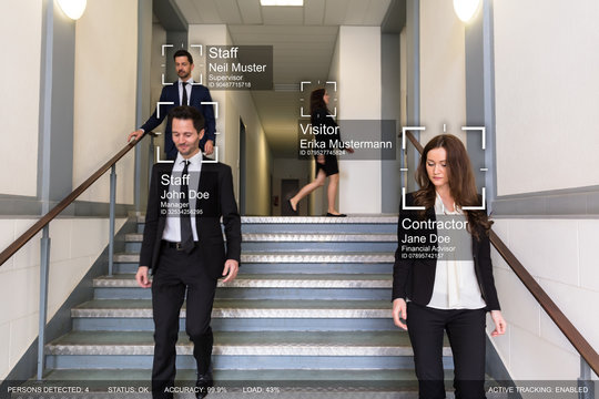 Group Of Businesspeople Identified By AI System