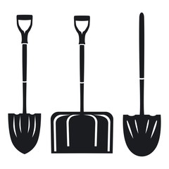 Vector illustration icon of a shovel