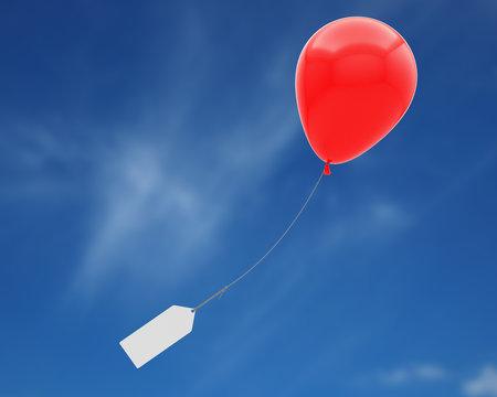ballon hélium message