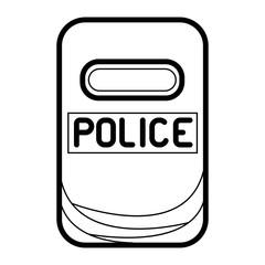 Police assault shield