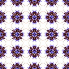 Abstract flowers seamless pattern background. Kaleidoscope from flowers. Hydraulic tile design .
