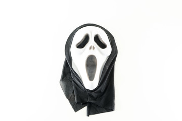 Close-up of screaming carnival mask