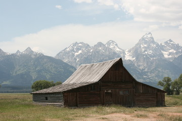 Barn around The Grand Teton National Park 12