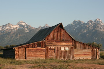 Barn around The Grand Teton National Park 4