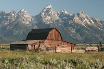 Barn around The Grand Teton National Park 2
