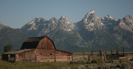 Barn around The Grand Teton National Park