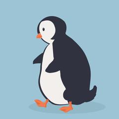 Cute Penguin bird  cartoon vector