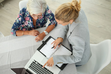 real-estate agent with senior