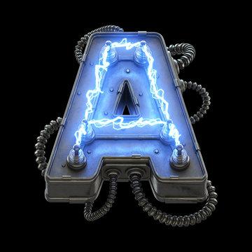 High voltage lightning font