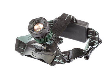 Headlamp modern isolated on a white background