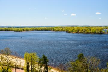 Aerial view on Dnieper river in Ukraine
