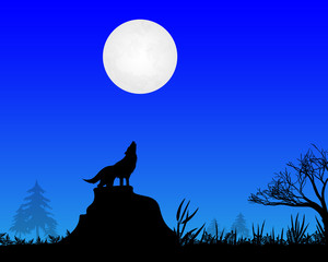 the wolf howls to the moon