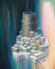 Norilsk is a city of trumpet. An oil painting on canvas. Author: Nikolay Sivenkov.
