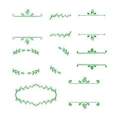 Vector Set of Doodle Blank Natural Frames, Outline Hand Drawn Vignettes.