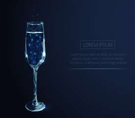 Wineglass with champagne