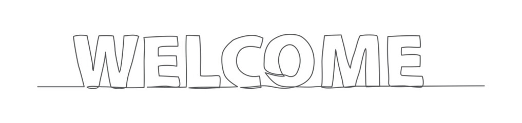 WELCOME One line drawing