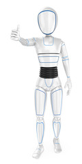 3D Humanoid robot with thumb up