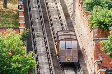 funicular railway transport to hill in the City