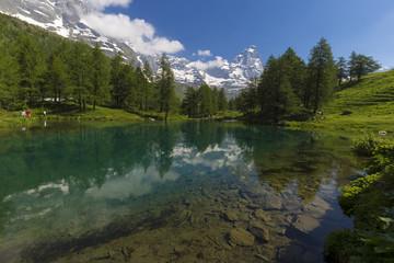 Lago blu del Cervino