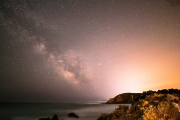 Milky way in the sky of Sardinia