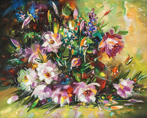 Artwork. Flowers. Author: Nikolay Sivenkov.