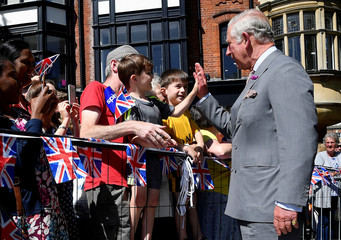 Britain's Prince Charles and Camilla, Duchess of Cornwall, visit Salisbury in southwest Britain