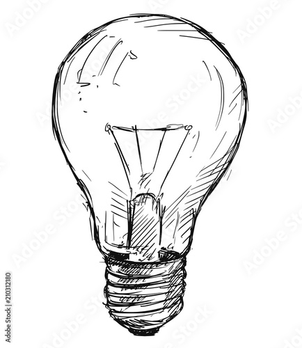 Vector Artistic Pen And Ink Sketch Drawing Illustration Of Light