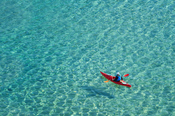 Kayaking, active water sport and leisure