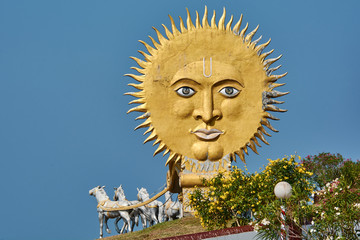 India. The state of Karnataka. Murdeshwar. The Chariot of the Sun God