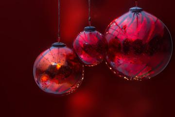 Boules noel rouge