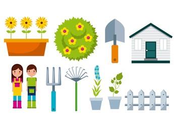 16 Colorful Garden Icons