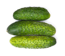 Few natural cucumbers