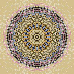 Colorful mandala on the white background.