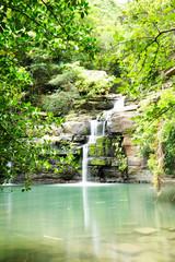 沖縄、西表島の滝