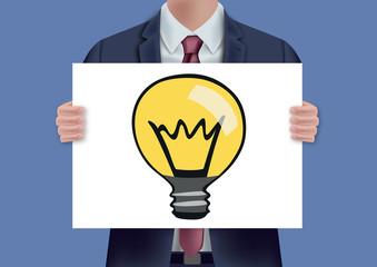 idée - pancarte - solution - présentation - créativité - création - créatif - entreprise - symbole