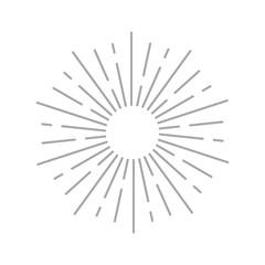Sun rays icon