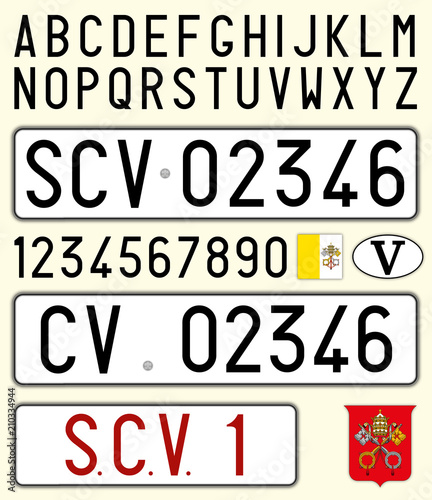 Vatican City Holy See Car License Plate Letters Numbers And