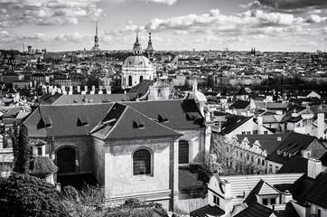 Beautiful Prague city, Czech, colorless
