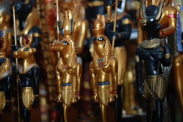 Egyptian souvenir statuettes of the Gods