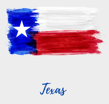 Grunge flag of the state of Texas