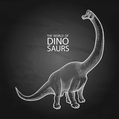 Realistic graphic dinosaur