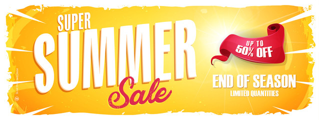 Summer Sale Extra Wide Banner/