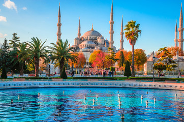 Photo sur Toile Turquie The Blue Mosque, (Sultanahmet Camii), Istanbul, Turkey.
