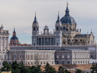 Printed roller blinds Madrid Distant view over Royal Palace in Madrid - the famous Palacio Real